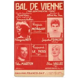 """bal de vienne """"the sentimental touch"""" (boris vian, sammy gallop, albert van dam) / partition originale 1958 (paroles françaises et anglaises)"""