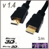 Cable hdmi 3D 1.4 Ethernet Blu-ray 3D HDCP-ARC 1m