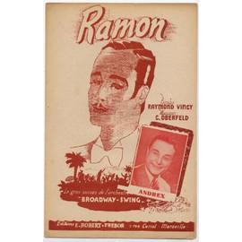 "ramon ""il s'appelait ramon"" (raymond vincy / C. oberfeld) / partition originale"