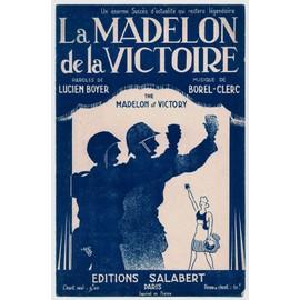 """la madelon de la victoire """"the madelon of victory"""" (lucien boyer / borel-clerc) / partition originale 1944, paroles en français et en anglais"""