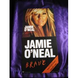 Jamie O Neal  Affiche cartonnée dépliante en deux pour l'album Brave