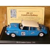 Citroen Ds 21 Londres Sydney Universal Hobbies 1/43 Atlas