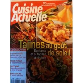 Cuisine Actuelle N� 131 : Tajines Au Go�t Du Soleil
