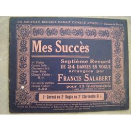 RECUEIL N°7 MES SUCCES FRANCIS SALABERT .2e CORNET/BUGLE ou CLARINETTE SI b