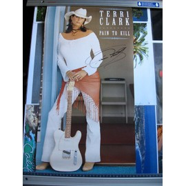 Terri Clark Affiche avec un autographe fait à Nashville. Elle est en double format 33t et se plie en deux