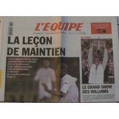 Journal L'equipe N� 17 255 : La Lecon De Maintien