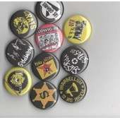 Lot De Dix Badges 25 Mm De Groupes Punk Fran�ais