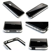 Coque Bumper Luxe Pour Iphone 4 + Film De Protection Recto Verso