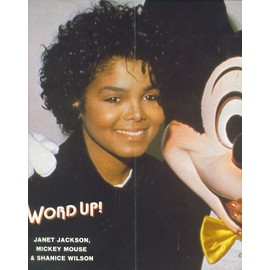 Janet Jackson, Mickey Mouse & Shanice Wilson Poster 27X59 (Word Up!)