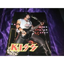 KISS Poster Gene live 1984 avec articles sur KISS au dos