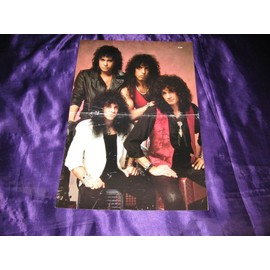 KISS Poster du magazine américain Metal Edge époque Hot in the shade 2 pages