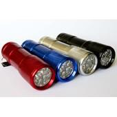 Lot 4 Lampes Torches 9 Led - Robuste Et Puissante