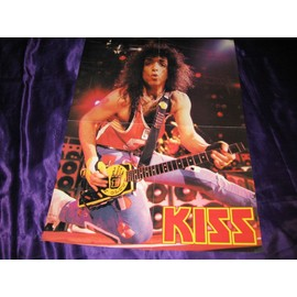 KISS / Iron Maiden en slip :) Poster 4 pages Paul live époque Crazy Nights avec logo allemand