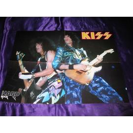 KISS Poster 4 pages époque Asylum avec Manowar au verso
