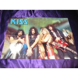 KISS / Black Sabbath + Rob Halford Poster 4 pages époque Revenge avec le logo allemand