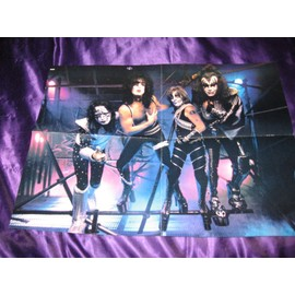 KISS / Marylin Manson Poster 4 pages de Metal Edge mag USA