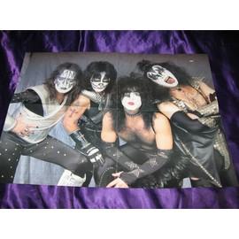KISS / Metallica Poster USA de Metal Edge mag 4 pages