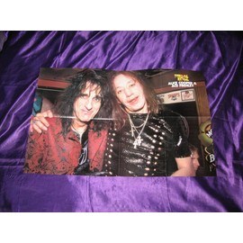 Alice Cooper avec Ace Frehley de KISS Poster USA 8 pages de Metal Edge