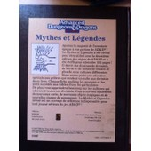 Advanced Dungeons Dragons N� 2 : Mythes Et L�gendes