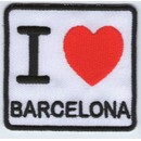 Ecusson Patche Thermocollant Patch I Love Barcelone