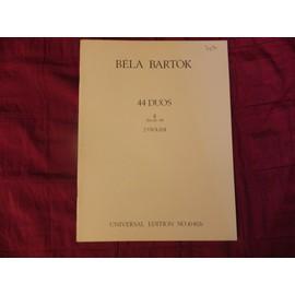 Béla Bartok. 44 Duos II n°26-44, 2 Violini. n°10452b
