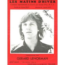 GERARD LENORMAN PARTITION LES MATINS D'HIVER