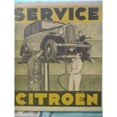 Service Citro�n 1933 de Collectif