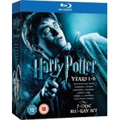 Coffret Harry Potter Integrale Annee 1 A 6 - Coffret 7 Blu Ray - Import Uk de Chris Colombus