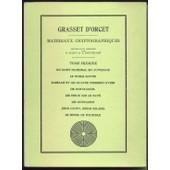 Mat�riaux Cryptographiques Tome 1 Et 2 de Grasset d'Orcet, Eug�ne Sosthene de