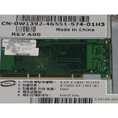 Intel Network PCI-X-133 Card 10/100/1000Mbps W1392 (DELL 0W1392) - P/N : C48544-001, C47159-003