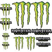 12 Autocollants Stickers Monster Energy 3
