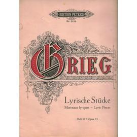 Grieg : Lyrische Stücke- Morceaux Lyriques- Piano