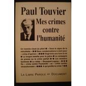 Mes Crimes Contre L'humanit� de Paul Touvier