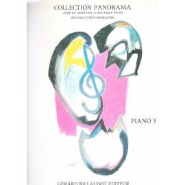 PANORAMA PIANO VOLUME 3  GB3840 DIVERS AUTEURS, Patrice SCIORTINO, Henri DUTILLEUX, Joseph MAKHOLM, Katori MAKINO