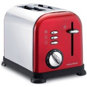Morphy Richards Accents Red Shiny 44742 - Grille-pain