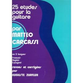 25 études pour la guitare opus 60 par MATTEO CARCASSI