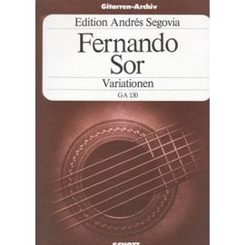 variationnen GA 130 pour guitare de FERNANDO SOR édition Andrés SEGOVIA