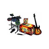 Guitare + Batterie + Micro Pour Ps3 + Jeu Guitar Hero World Tour