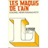 Les Maquis De L'ain de Henri Romans-Petit
