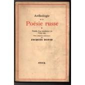 Anthologie De La Po�sie Russe de jacques david