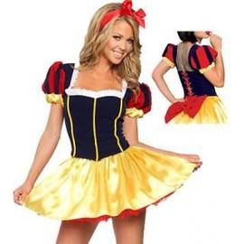 Neuf !!! Sexy Costume D�guisement Tenue Cartoon : Princesse Blanche Neige + Accessoires ! T 36 38 40