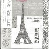Lot De 2 Serviettes D�co Papier Ppd: Paris