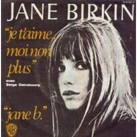 JANE BIRKIN - SERGE GAINSBOURG - Je T Aime Moi Non Plus/Jane B - 7inch x 1