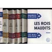 Les Rois Maudits.. La Reine Etranglee..Les Poisons De La Couronne..La Loi Des Males..Le Lis Et Le Lion.. La Louve De France 6 Tomes de maurice druon