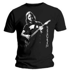 "T-SHIRT HOMME NOIR DAVID GILMOUR  ""YOUNG DAVE"" (TAILLE S)"