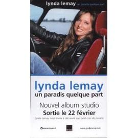 LYNDA LEMAY PLAQUETTE PLV UN PARADIS QUELQUE PART