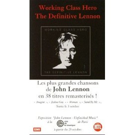 JOHN LENNON PLAQUETTE PLV WORKING CLASS HERO