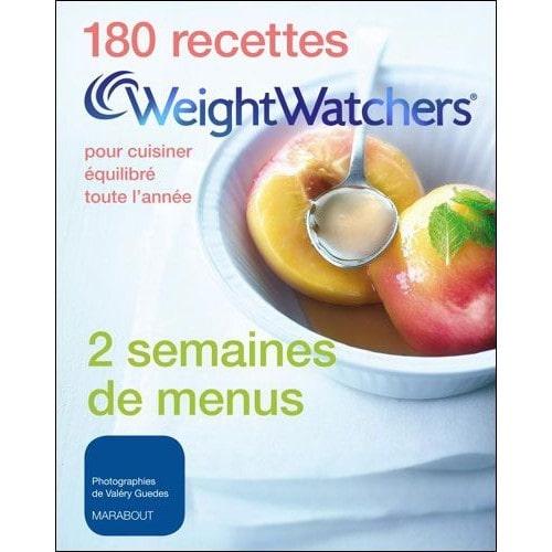 180 recettes Weight Watchers pour cuisiner équilibré toute l'année  Collectif, grand format