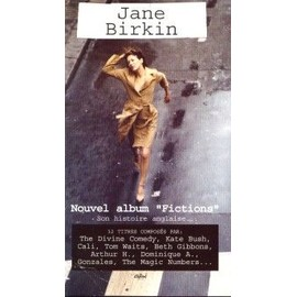 JANE BIRKIN PLAQUETTE PLV NOUVEL ALBUM FICTIONS