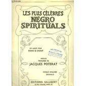Les Plus Celebres Negro Spirituals de POTERAT JACQUES